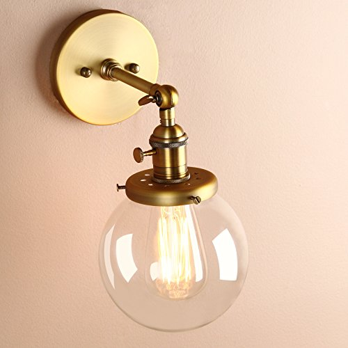 Outdoor Wall Light Replacement Glass: Permo Vintage Industrial Wall Sconce Lighting Fixture With