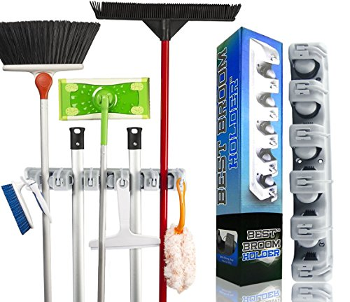 Best Broom Holder The Most Powerful Grippers Mop Broom Ho...