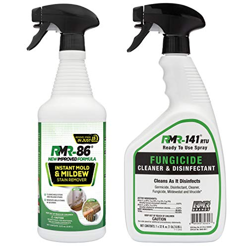 Complete Mold Killer & Remover DIY Bundle - Kill, Clean and Prevent Mold & Mildew (1-32oz RMR 86, 1-32oz RMR-141 RTU & 2 Trigger sprayers)