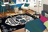 Mohawk Home Aurora Sugar Skull Dia de los Muertos Area Rug, 5′ x 8′, Rainbow
