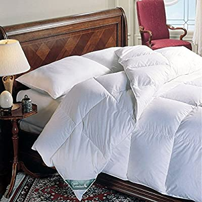 King Size White Down Alternative Comforter - Duvet Cover Insert - 100 Ounces of Fill