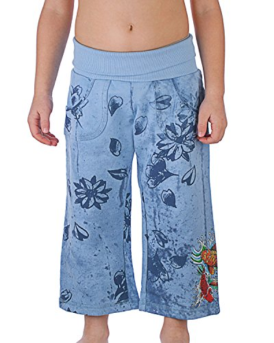 Ed Hardy Kids Big Girls' Capri Sweatpants - Aqua - Medium