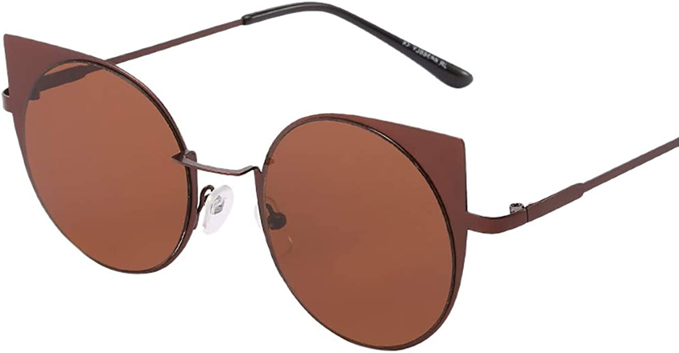f7c1d8ff3d HULKAY Fashion Round Sunglasses丨Aviator Mirrored Flat Lens Sunglasses丨Vintage  Irregular Shape Sun Glasses
