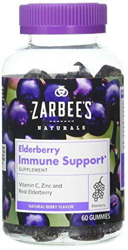 Zarbee's Naturals Elderberry Immune Support* Gummies with Vitamin C, Zinc, Natural Berry Flavor, 60 Count ( 3 Pack) (3) Review