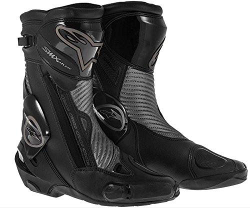 Alpinestars S-MX Plus Black Shadow Boots, Primary Color: Gray, Size: 3.5, Distinct Name: Gunmetal, Gender: Mens/Unisex 2221013-18-36