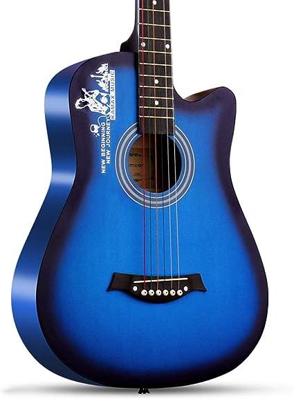 Miiliedy Negro Retro 38 pulgadas Guitarra Principiante Estudiante Adulto Mujer Hombre Adolescente Autoestudio Folk Guitarra acústica con estuche de guitarra Acorde Correa de hombro Afinador: Amazon.es: Instrumentos musicales