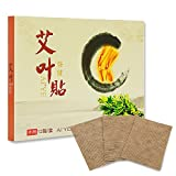 iLOVEPandas Natural Wormwood Stickers Chinese Traditional Moxibustion Health Paste Pain Relief Self-Heating Moxa Pads (Style 1,12pcs)