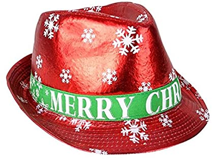 Fedora + Coil Spring Santa HAT Christmas Dress Up Hats