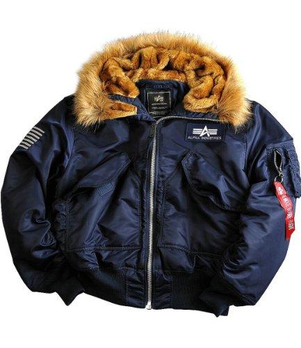 Uomo Invernale Custom Giacche Industries 45p Giacca Alpha Nero Hooded 6Ixq5awwW