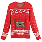 Morphsuits Unisex Adult crackling Fireplace Christmas Sweater - Medium