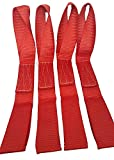 Sports Imports SI-MTD-R Soft Loops Motorcycle Tie Down Straps, Break Strength, 1.75'' W x 17'' L, Red, 10,500 lb., Pack of 4
