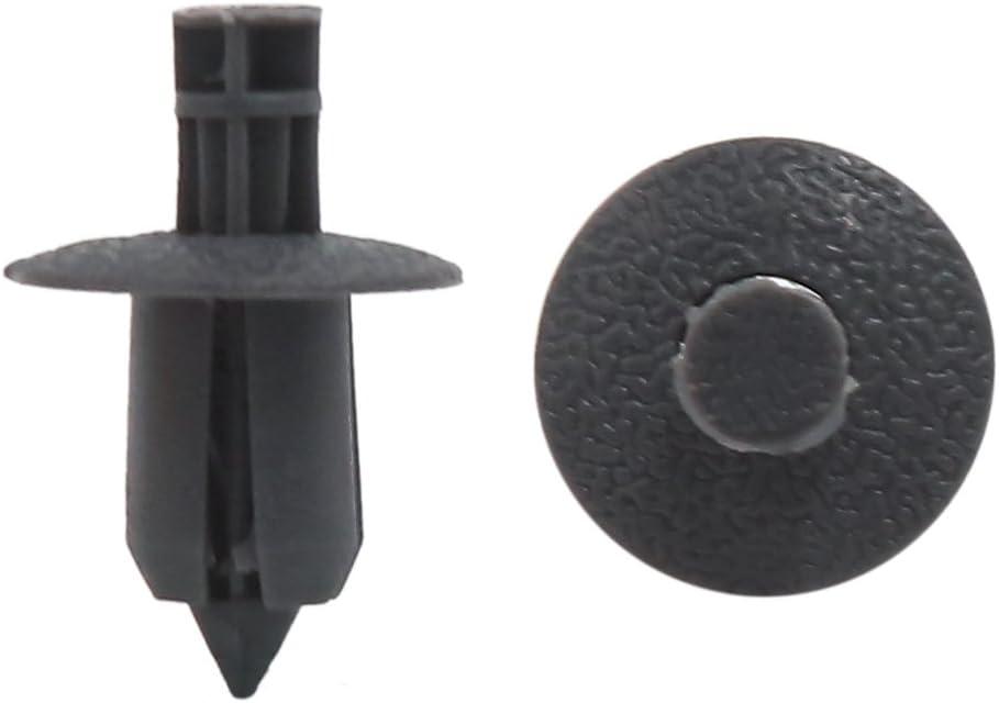 uxcell Car 9mm Hole Diameter Gray Plastic Rivets Fastener Fender Bumper Push Pin Clips 50 Pcs