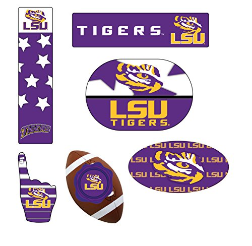 LSU TIGERS MAGNET SET-LSU TIGERS 6 PACK OF CAR MAGNETS-AWESOME TAILGATE PACK ()