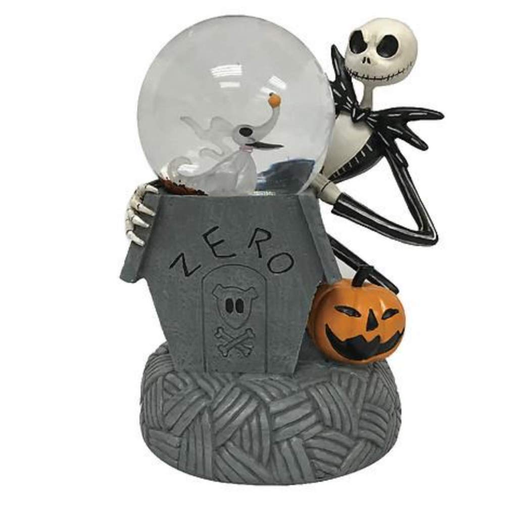 The Nightmare Before Christmas Jack Skellington and Zero Light Up and Musical Waterglobe