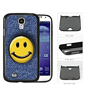 Smiley Face On Denim Jean Surface Hard Plastic Snap On Cell Phone Case Samsung Galaxy S4 SIV I9500