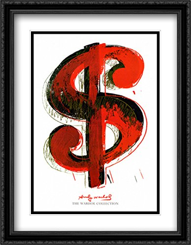 Matted 28x40 Large Black Ornate Framed Art Print by Andy Warhol ()