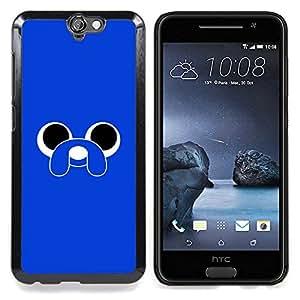 Eason Shop / Premium SLIM PC / Aliminium Casa Carcasa Funda Case Bandera Cover - Animal de la historieta del perro Ojos - For HTC One A9