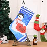 Yingealy Great Party Supplies Christmas Stocking Decoration Christmas Supplies Hotel Bar Party Shopping Mall Pendant(D)