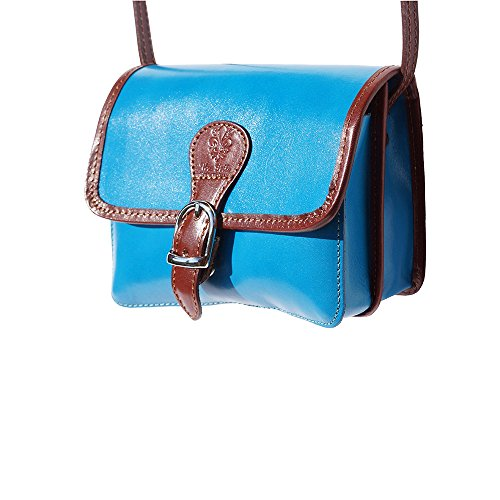 Azul marron Celestial Market En Piel Bolso Leather Florence 225 De Vaca Bandolera vPgz7