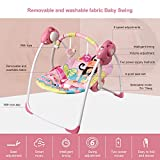 VASTFAFA Soothing Portable Swing,Comfort Electric Baby Rocking Chair with Intelligent Music Box That Can Be Used from The Beginning of The