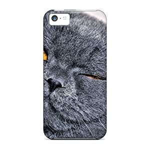 Snap-on Case Designed For Iphone 5c- Animals Cats Cat Eyes Shut