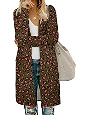 AUSELILY Women's Cardigan Sweaters for Women with Pocketes Long Sleeve Casual Lightweight Open Front Cardigan