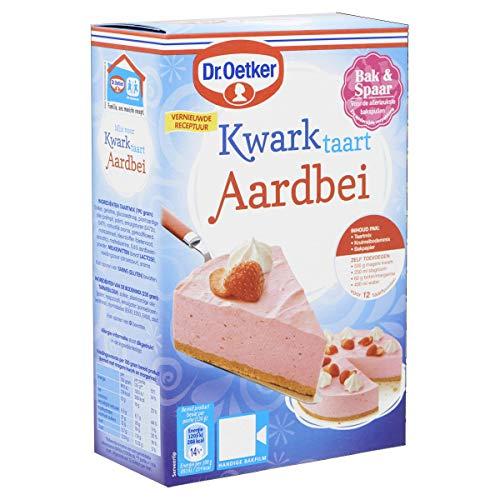 Dr.Oetker Kwarktaart Aardbei – taartmix voor 12 taartpunten (420 g)