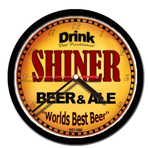SHINER beer and ale cerveza wall clock