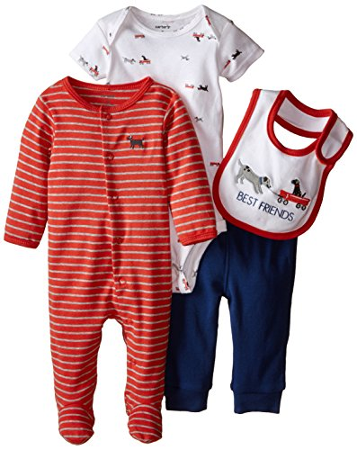 Carter's Baby Boys' 4 Piece Layette Set (Baby) - White - Red - Newborn