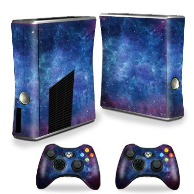 MightySkins Skin Compatible with X-Box 360 Xbox 360 S Console - Nebula | Protective, Durable, and Unique Vinyl Decal wrap Cover | Easy to Apply, Remove, and Change Styles | Made in The USA (Xbox 360 Starwars Controller)