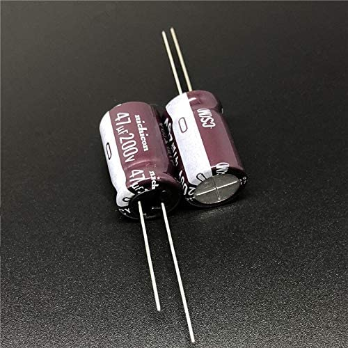 5PCS 47uF 200V CS Series 12.5x20mm High Ripple Current High Reliability 200V47uF Aluminum Electrolytic Capacitor