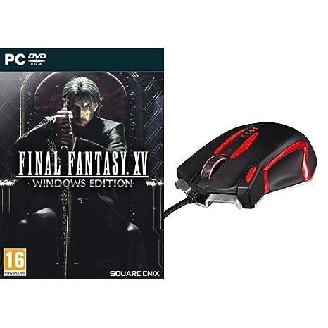 Final Fantasy XV - Windows Edition + Konix Ragnarok - Auriculares con micrófono para juegos, color negro: Amazon.es: Videojuegos