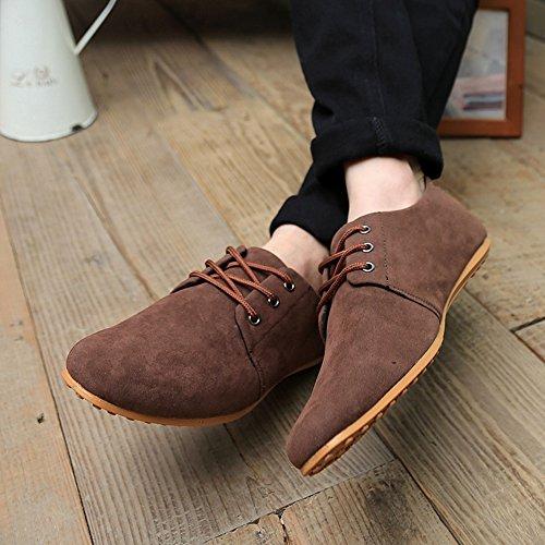 Ying Lan Män Brittisk Stil Mode Enkla Herrar Sneakers Sport Tillfällig Gå Platta Lata Låga Skor Brun