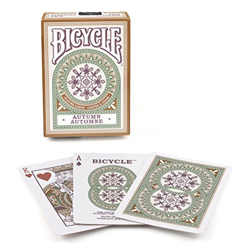 2 Decks Bicycle Autumn Design Copper Standard Poker Playing Cards