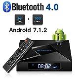 Globmall 4K Android 7.1 TV Box, 2018 Model X4 Smart TV Box 2G RAM 16G ROM Amlogic Quad Core ARM Cortex A53 with HDMI 2.0A Bluetooth V4.0