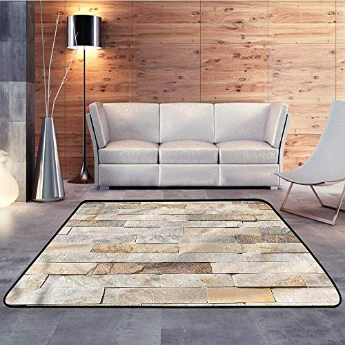 Carpet Flooring,Ivory,Brick Wall Stylized CityW 47