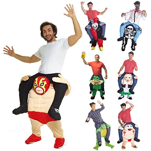 Morphsuits Men's Wrestler Piggyback Costume Adult, Pink/Red, One Size (Piggy Costumes)