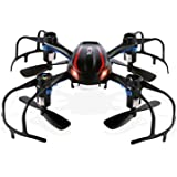 Dayan Anser Mini RC Drone RTF for Beginner, 2.4GHz Radio Control Tiny RC UFO Quadcopter, Spider Nano RC Glider Helicopter, 360-degree 3D Rolling and LED Night Lights (Black)