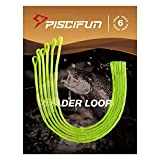 Piscifun 6-Pack Braided Leader Loop Connector for Fly Line - 50lb Yellow 6 Pack