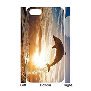 3D Bumper Plastic Case Of Dolphin customized case For Iphone 4/4s
