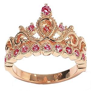 amazoncom 14k gold princess crown with garnet birthstone