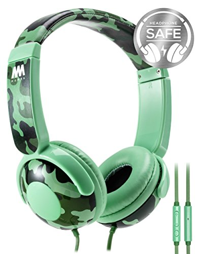 (Kids Headphones, Mumba Volume Limited Over Ear Headphones, 85 Safe Listening Adjustable Headsets with Microphone for Kids Children (Camouflage))