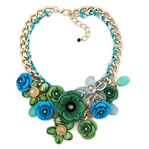 LovelyCharms Flower Statement Necklace Pendant