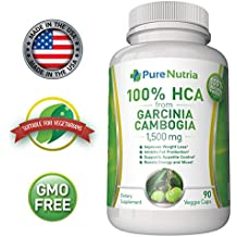 1500mg Pure HCA from Garcinia Cambogia Extract. Extra Strength 100% HCA an Ultra Effective Appetite Suppressant and Weight Loss Supplement. 90 Vegetarian Capsules. Made is USA