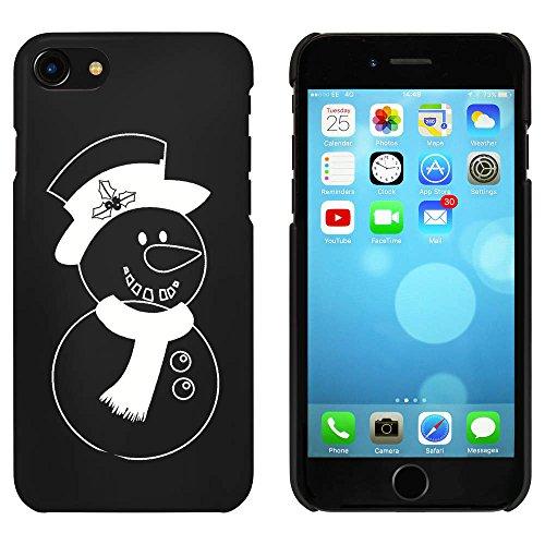 Noir 'Bonhomme de Neige' étui / housse pour iPhone 7 (MC00067329)