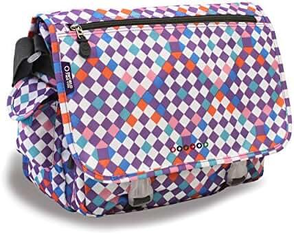 J World New York Terry Messenger Bag, Checkmate, One Size