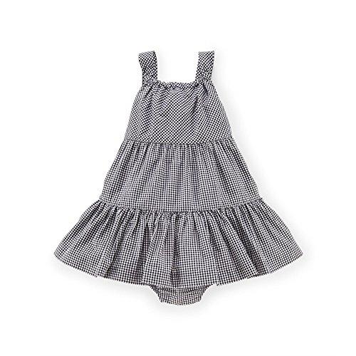 Ralph Lauren Baby Girls Seersucker Dress & Bloomer Set White Multi (9 Months)