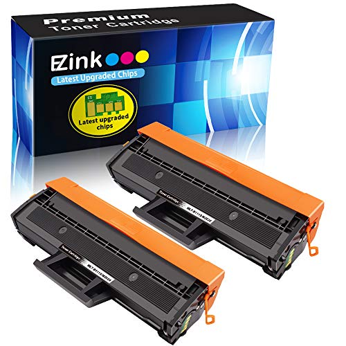 (E-Z Ink (TM) Compatible Toner Cartridge Replacement for Samsung 111S 111L MLT-D111S MLT-D111L to use with Xpress SL-M2020W Xpress SL-M2070W Xpress SL-M2070FW Printer (Black, 2 Pack))