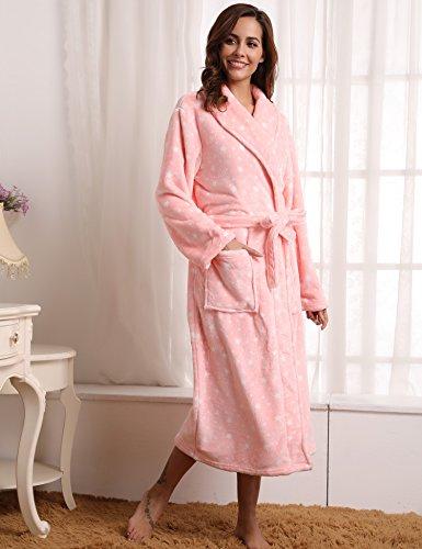 Long Warm Sponge Flanella Velluto Donna Accappatoio Bath Fleece Aibrou Pink Room Robe Star Long Man Winter YqPOF