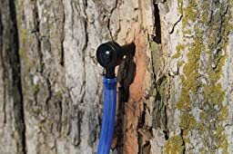 Maple Tree Tapping Kit – Includes 5/16 inch Tree Saver Taps Spiles plus 3-Foot Drop Line Tubes (Pack of 10), and 80 Page Fully Illustrated Guide to Maple Tapping Book